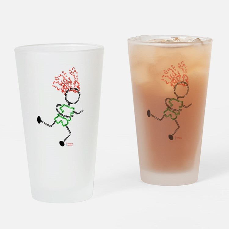 Runner pic.jpg Drinking Glass