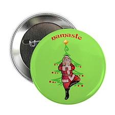 "Santa Tree Pose 2.25"" Button"