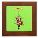 Santa Tree Pose Framed Tile