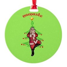 Santa Tree Pose Ornament