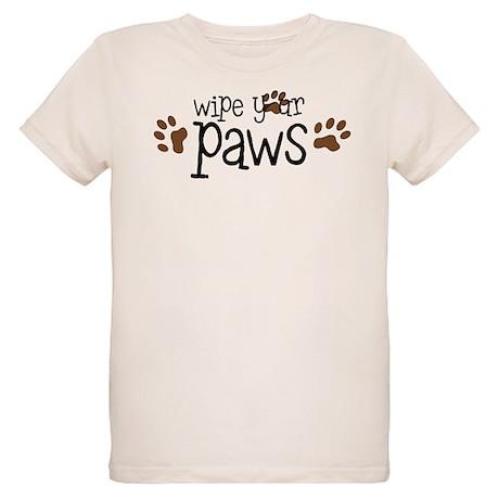 Wipe Your Paws Organic Kids T-Shirt