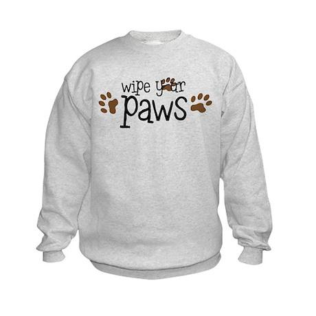 Wipe Your Paws Kids Sweatshirt