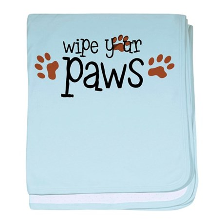 Wipe Your Paws baby blanket