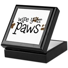 Wipe Your Paws Keepsake Box