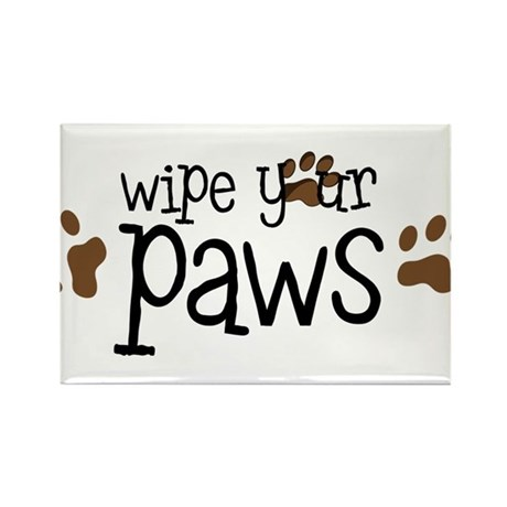 Wipe Your Paws Rectangle Magnet