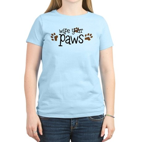 Wipe Your Paws Women's Light T-Shirt