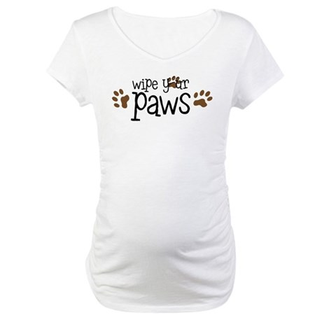 Wipe Your Paws Maternity T-Shirt