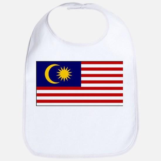 Malaysia - National Flag - Current Cotton Baby Bib