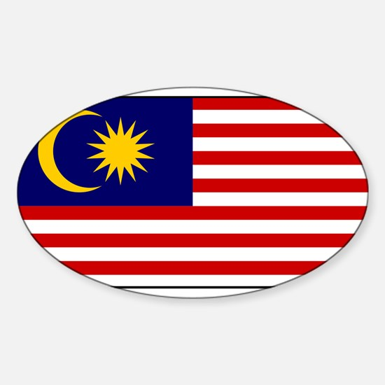 Malaysia - National Flag - Current Sticker (Oval)