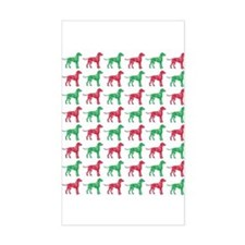 Dalmatian Christmas or Holiday Silhouettes Decal