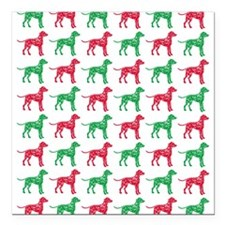 Dalmatian Christmas or Holiday Silhouettes Square