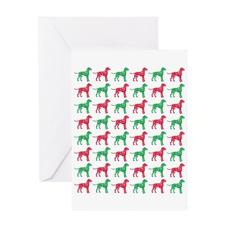 Dalmatian Christmas or Holiday Silhouettes Greetin