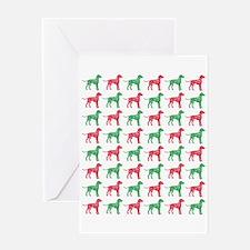 Dalmatian Christmas or Holiday Silhouettes Greetin
