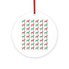 Dalmatian Christmas or Holiday Silhouettes Ornamen