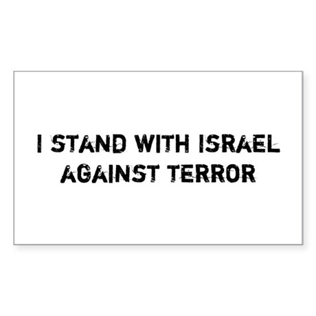 I stand with Israel against Terror Sticker (Rectan