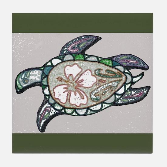 Turtle design Tile Coaster