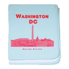 Washington DC baby blanket