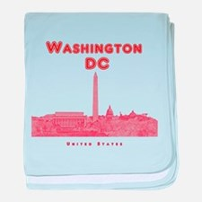 Washington DC baby blanket