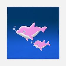Pink Dolphin Queen Duvet