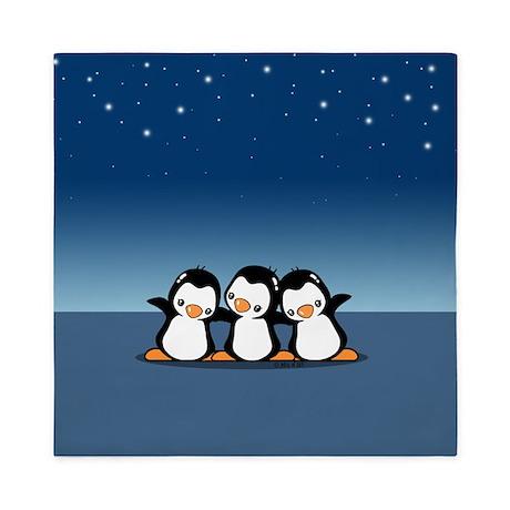 Penguins (together) Queen Duvet