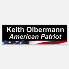 Keith Olbermann, American Patriot Bumper Bumper Bumper Sticker