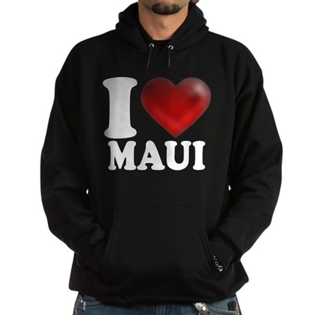 I Heart Maui Hoodie (dark)