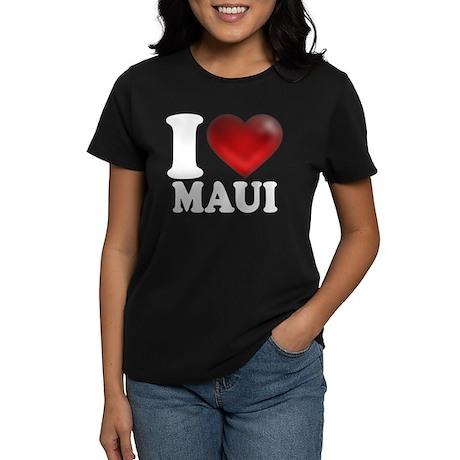 I Heart Maui Women's Dark T-Shirt