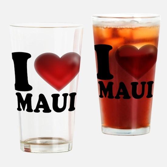 I Heart Maui Drinking Glass