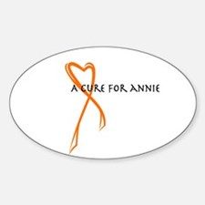 A Cure For Annie Logo Sticker (Oval)