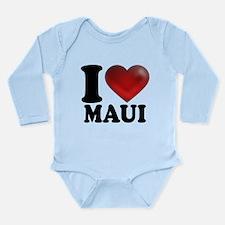 I Heart Maui Long Sleeve Infant Bodysuit