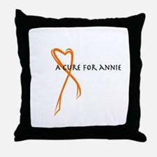A Cure For Annie Logo Throw Pillow