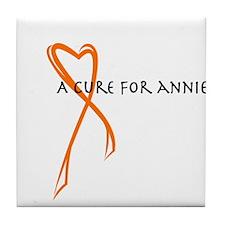 A Cure For Annie Logo Tile Coaster