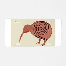 Kiwi Bird Fern Design Aluminum License Plate