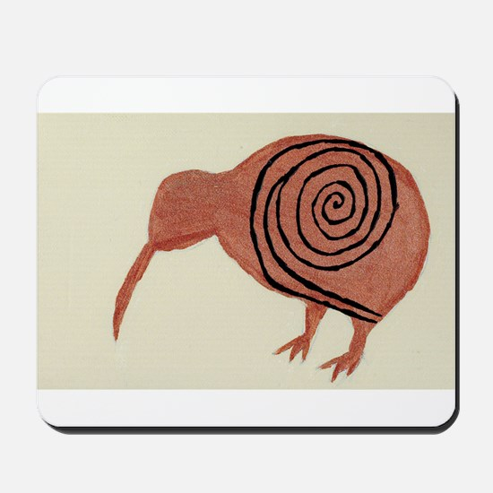 Kiwi Bird Fern Design Mousepad