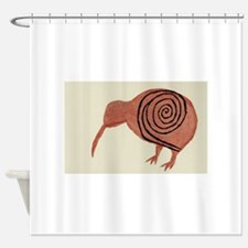 Kiwi Bird Fern Design Shower Curtain