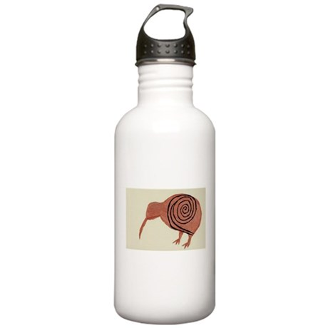 Kiwi Bird Fern Design Stainless Water Bottle 1.0L