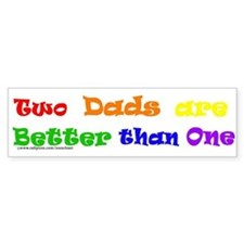 Two Dads Bumper Bumper Sticker