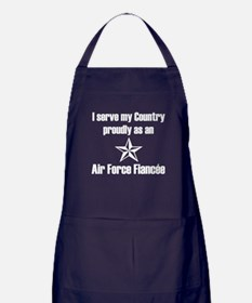 Air Force Fiancee Serve Proudly Apron (dark)
