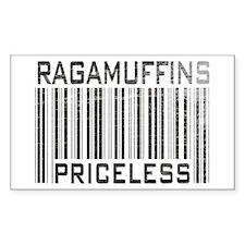 Ragamuffins Priceless Rectangle Decal