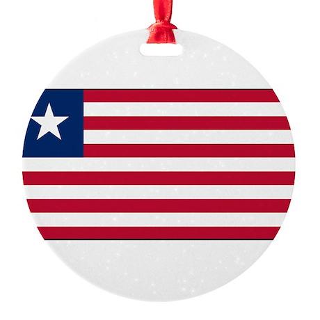 Liberia - National Flag - Current Round Ornament