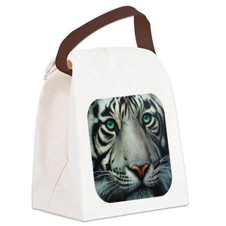 tigerwhite.png Canvas Lunch Bag