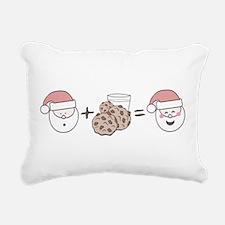 Santa Cookie Math Rectangular Canvas Pillow