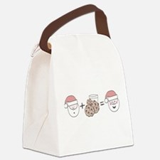 Santa Cookie Math Canvas Lunch Bag