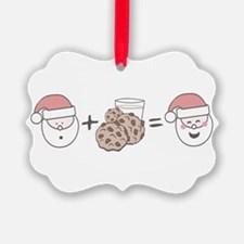 Santa Cookie Math Ornament