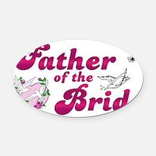 fatherbride.jpg Oval Car Magnet