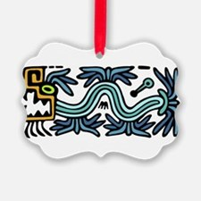 Tribal Feathered Serpent Ornament