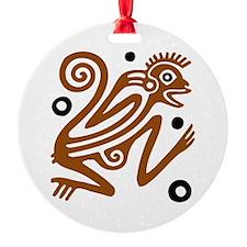 Tribal Monkey Ornament