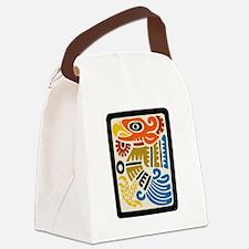 Mexican Aztec Eagle Canvas Lunch Bag