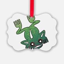 Psychedelic Tribal Frog Ornament