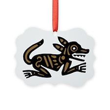 Tribal Dog Ornament